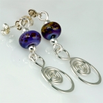 lampwork_bead_spiral_earrings